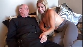 old man pound his youthful wifey
