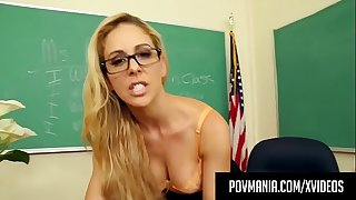 Sexy Milf Teacher Cherie Deville Wraps Her Lips Around Cock!