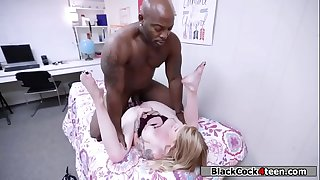 Blonde fucks black cock for the sorority