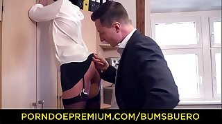 German Secretary Mareen Deluxe Seducing Manager to Fuck